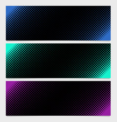 Halftone square pattern banner template design vector