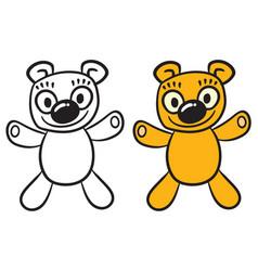 happy teddy bear vector image