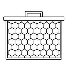 honeycombs icon outline style vector image
