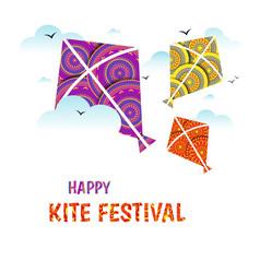 Kite string festival vector