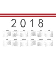 Latvian 2018 year calendar vector