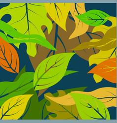 leaf art pattern vector image