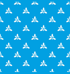 leaf pattern seamless blue vector image