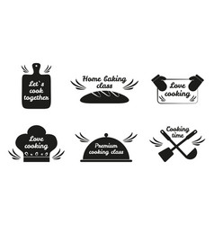 Lets cook together icon set vector