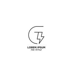 Letter g flash logo design vector