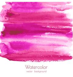 magenta watercolor texture background vector image