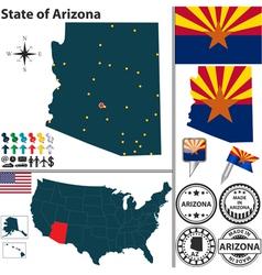 Map arizona vector