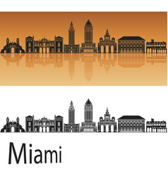 miami v2 skyline vector image