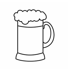 Mug of dark beer icon outline style vector image