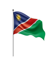 namibia flag on a white vector image