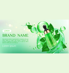 natural cosmetics skin care cream beauty product vector image