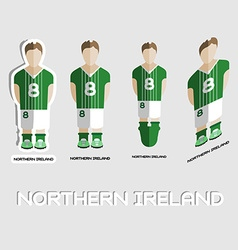 Northern Ireland Soccer Team Sportswear Template vector image