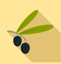 olive icon flat style vector image