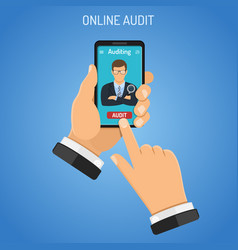 Online auditing tax accounting concept vector