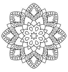 ornamental simple mandala vector image