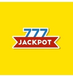 Paper sticker on stylish background jackpot lucky vector