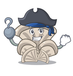 pirate oyster mushroom character cartoon vector image