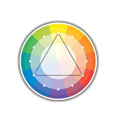 Polychrome multicolor spectral versicolor triangle vector