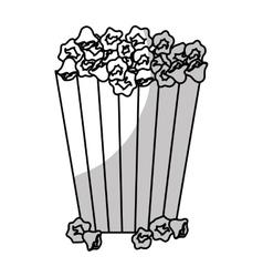 popcorn bucket icon vector image