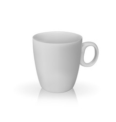 realistic 3d model of cup white color vector image