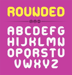 Rounded font design vector image