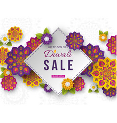 sale poster or banner for festival of lights vector image