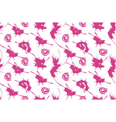 seamless pattern pink ink splashes vector image