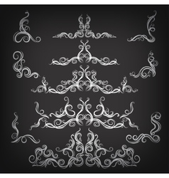 Set of borders with decorative graphic elements vector image