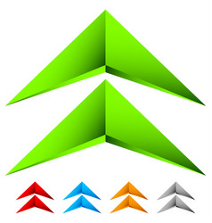 sharp edgy 3d arrow icon in more color with bevel vector image