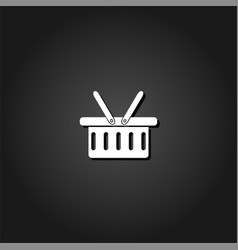 shopping basket icon flat vector image