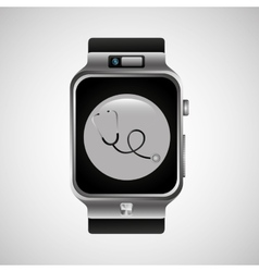 smart watch stethoscope health technology vector image