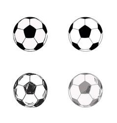 Soccer ball set vector