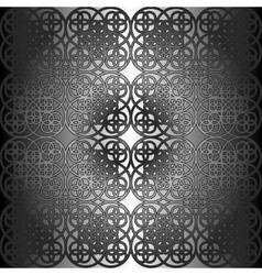 Square flower pattern symmetrical vector