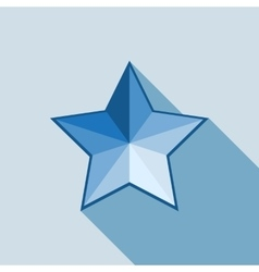 star icon on white background vector image vector image