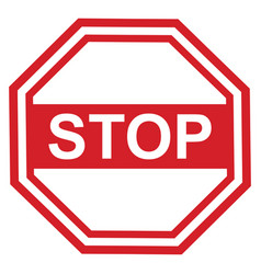 stop sign design red vector image