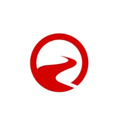 Sun river logo vector
