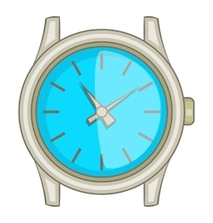Swiss watch icon cartoon style vector