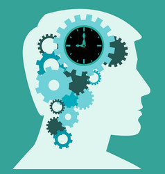 time to think human brain creative process concept vector image