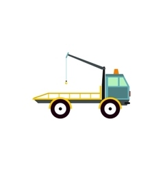 Tow truck for transportation cars icon flat style vector image