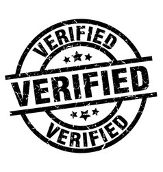 verified round grunge black stamp vector image