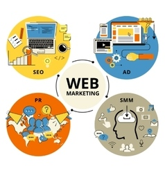 Web marketing vector image