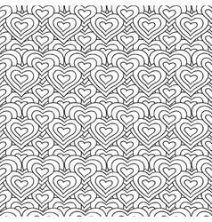 White and black hearts seamless pattern vector