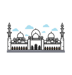 white big arabian temple vector image