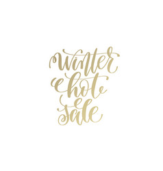 winter hot sale golden hand lettering winter vector image
