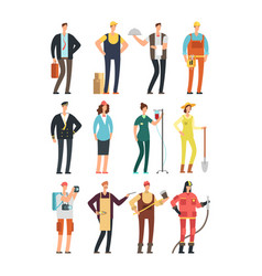 young happy female nad male professional people in vector image