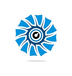 Abstract Logo Eye Circle Eyeball Symbol vector image