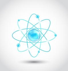 Atom symbol isolated on white background vector image