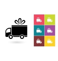 Delivery icon or delivery symbol vector image vector image