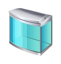 Plastic or glass rectangular container for use as vector