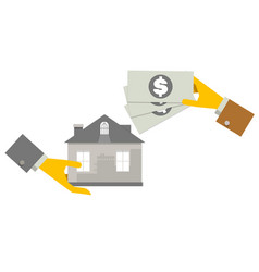 property investment concept house and real estate vector image